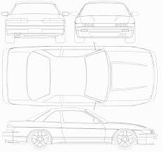 nissan silvia drawing nissan silvia s13 k u0027s smcars net car blueprints forum