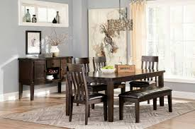 ashley dining table u0026 chairs bench set d596 35 oc furniture