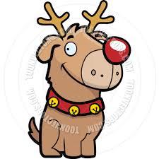 cartoon reindeer dog by cory thoman toon vectors eps 563