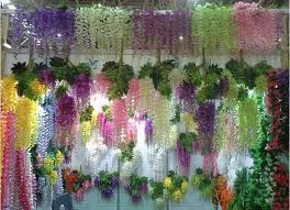 silk flower centerpieces online cheap silk flower artificial flower wisteria vine rattan