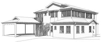 Elegant Architecture Home Design Drawing 3d House Drawing Vector