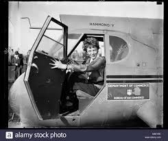 air bureau amelia earhart in the cockpit of a u s bureau of air commerce stock
