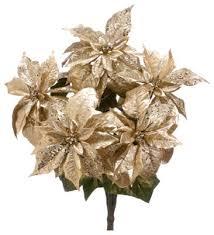 silk plants direct glitter metallic poinsettia bush pack of 4