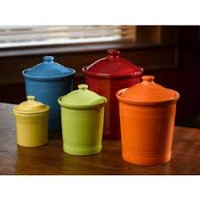 kitchen canisters medium sized storage canister or cookie jar 2 quarts in cobalt