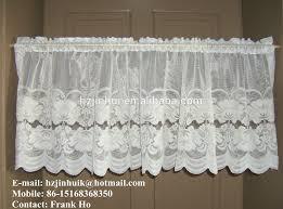 White Lace Valance Curtains Vintage Cream Ivory Net U0026 Lace Valance Curtain Floral Pattern
