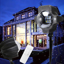 Led Light Show Christmas Decorations by Falling Snow Flurries Outdoor Led Projector Light Show Christmas