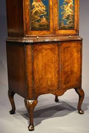 Chinoiserie Secretary Desk by Antique Chinoiserie Walnut Cocktail Drinks Cabinet Loveday Antiques