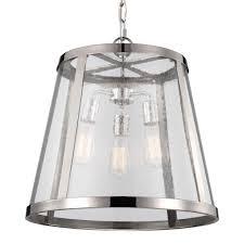 3 light harrow pendant in polished nickel feiss p1288pn lighting harrow pendant