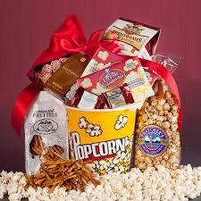 popcorn gift baskets pizazz gift basket