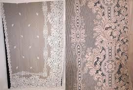 Antique Lace Curtains Fashioned Lace Curtains Vintage Antique White Lace Net Drapery