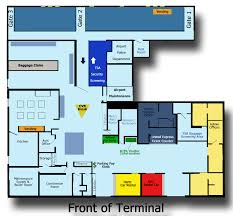 Chicago Ohare Terminal Map by Terminal Map Barkley Regional Airport