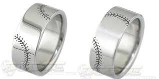 baseball wedding ring rings flat profile