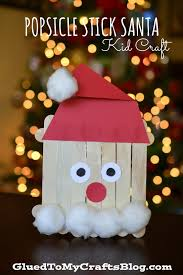 popsicle stick santa kid craft nursery crafts and craft