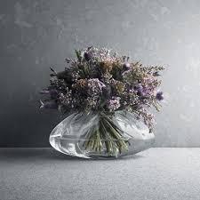 Small Glass Vase Buy Georg Jensen Facet Glass Vase Small Amara