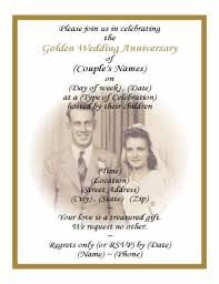 wedding anniversary invitation wording paperinvite