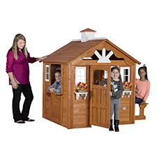 Playhouses For Backyard by Amazon Com Backyard Discovery Summer Cottage All Cedar Wood