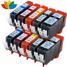 10x compatible canon 650 651 ink cartridge pgi 650 xl cli 651xl
