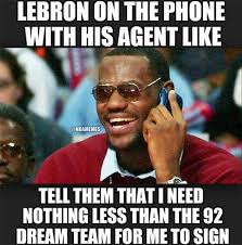 Meme Lebron James - nba memes on twitter lebron james talking to his agent heat