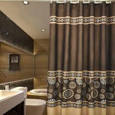 Extra Long Valance Plush Luxury Shower Curtains Vintage Coffee Patterned Luxury