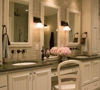 Lighting For Vanity Makeup Table Makeup Vanity Lighting Ideas Bathroom Mediterranean With Framed
