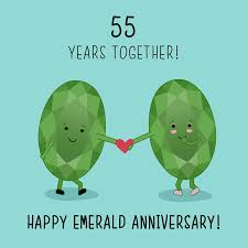 55th wedding anniversary 55th wedding anniversary card emerald anniversary