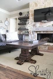 Pedestal Coffee Table Diy Pedestal Coffee Table Shanty 2 Chic