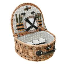 picnic basket for 4 classic handmade large wicker picnic basket for family vintage