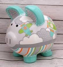 monogrammed piggy bank personalized piggy bank with or no by thepigpen