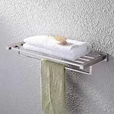 kes towel rack bathroom shelf with towel bar polished 24 inch