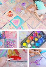 easy art ideas for kids watercolor on tile babble dabble do