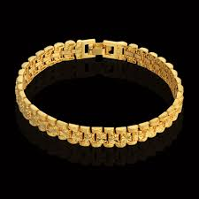 bracelet gold style images Men 39 s link bracelet thick gold chain link bracelets 20cm gold jpg