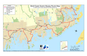 Scenic Route Map by The Three Byway Regions Bold Coast Scenic Byway