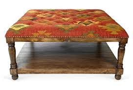 coffee table one of them is special kilim ottoman coffee table