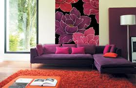 Bright Purple Rug Rug As Part Of A Living Room Design