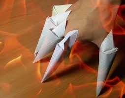 Origami Paper Claws - diy origami paper claws how to make easy paper craft step by