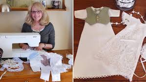 woman u0027s company crafts baby burial gowns out of wedding dresses