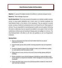 Resume For Cashier Job by Resume Fine Dining Hostess Resume Duties Of Restaurant