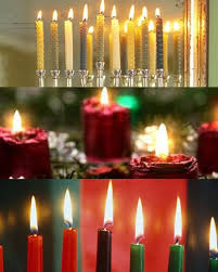 hanukkah candles colors what color is your christmas hanukkah kwanzaa