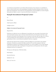 Letter Of Business Proposal Sample by 12 Investment Proposal Sample Budget Template