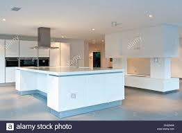 kitchen island extractor extractor above island unit in large empty all white kitchen in