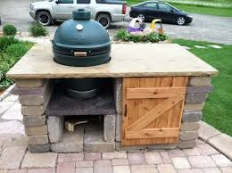 Big Green Egg Table Dimensions Big Green Egg Table Plans Large Easy Woodworking Ideas