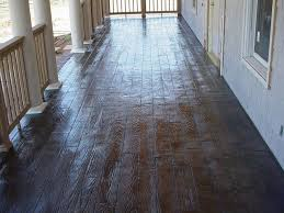 wood plank sted stained concrete porch traditional porch