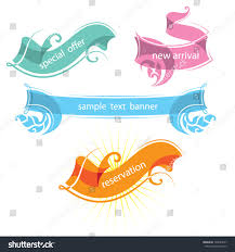 decorative ribbons set decorative ribbons banners flat color stock vector 148024577