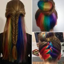 rainbow color hair ideas how to get rainbow colour hair tips