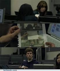 The Social Network Meme - failbook zuckerberg note pass funny facebook fails failing on