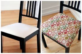 Fabric Chairs For Dining Room How To Guide Recovering A Drop In Chair Seat Fabric Place Basement
