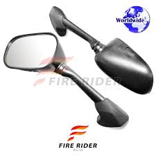 emark black aftermarket rear side mirrors for yamaha yzf r1 04 06