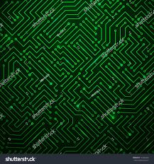 futuristic shining green technology background printed stock