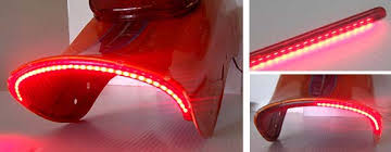 universal led tail lights sidefirez under the fender led motorcycle taillight