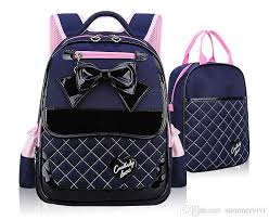 bags of bows children school bags fashion school backpacks high quality pu